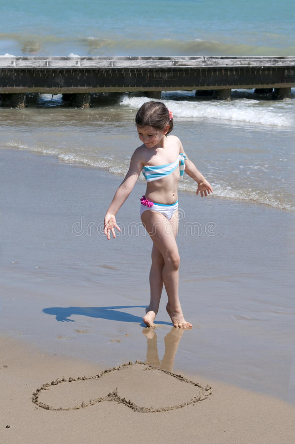 Little Summer Girl Royalty Free Stock Images