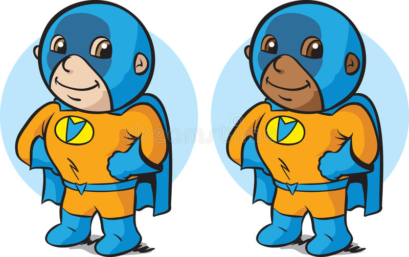 Little super hero stock illustration
