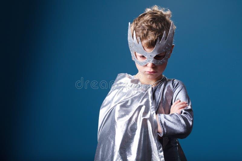 Little super hero portrait royalty free stock photo
