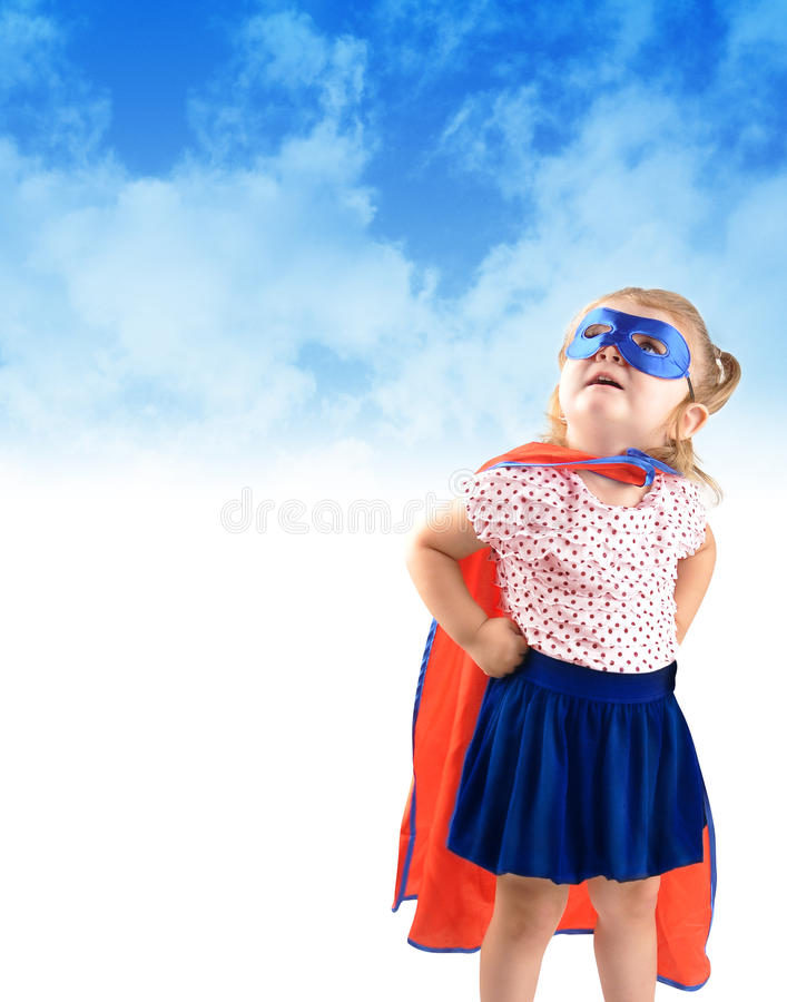 Little Super Hero Rescue Child Stock Images