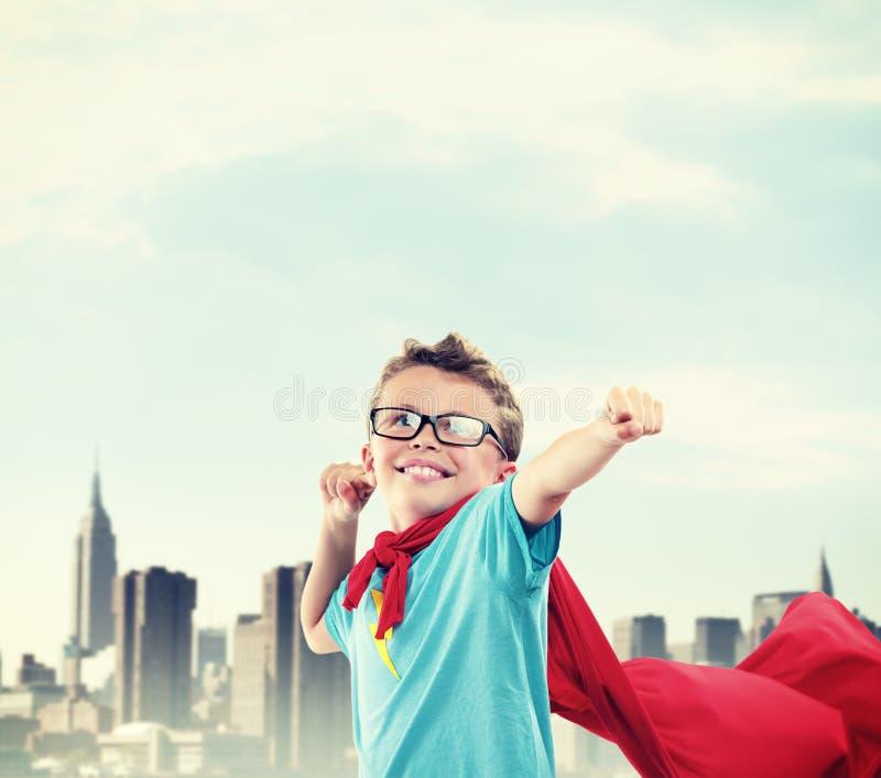 Little Superhero stock image