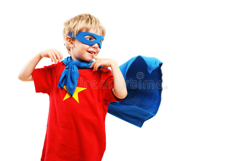 Download Little Superhero stock image. Image of cape, blond, freedom - 33760375