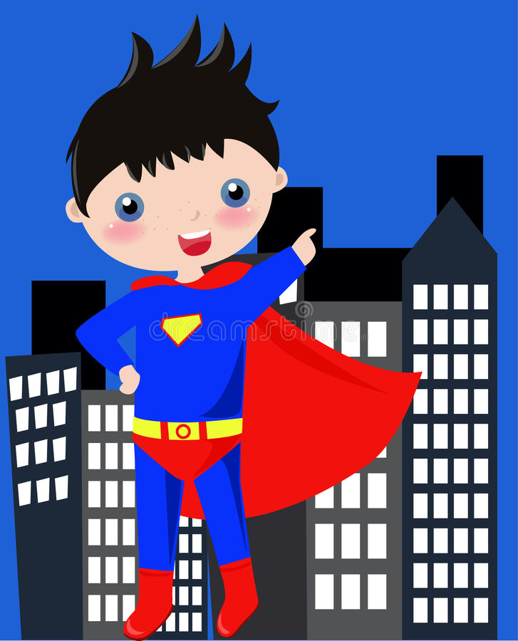 Download Little superman stock vector. Illustration of flaying - 11185507