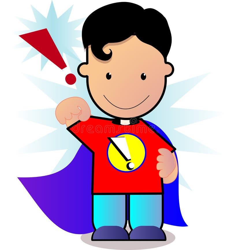 Little superman vector illustration