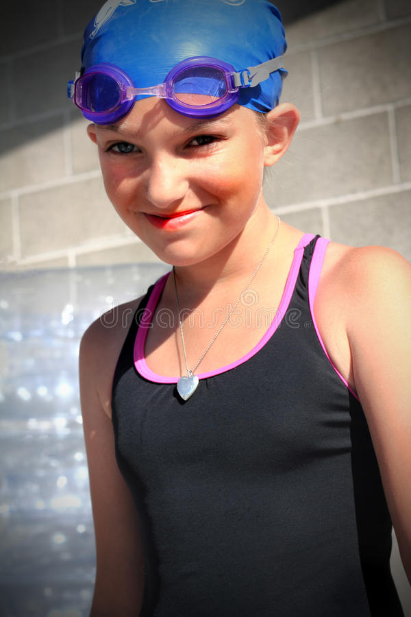 Little Swimmer royalty free stock photos