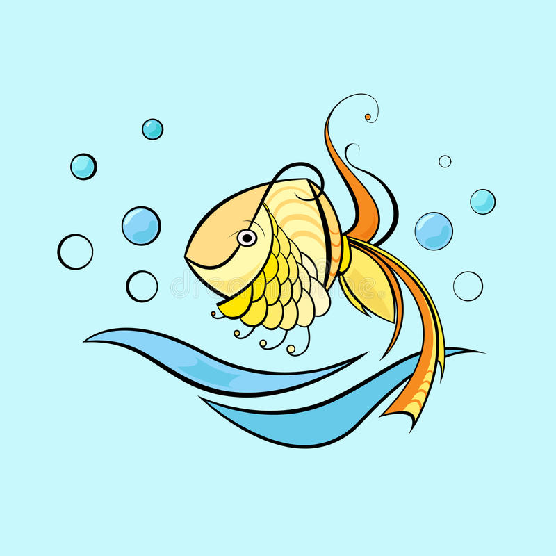 Little swimming fish