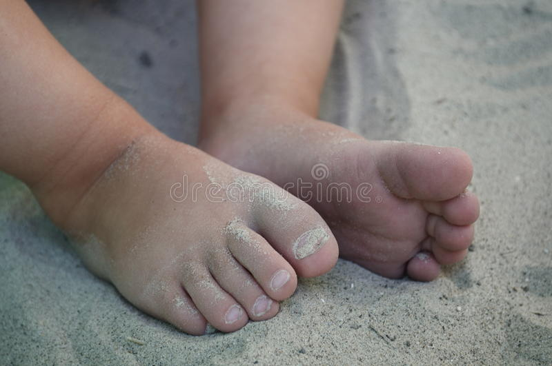 Download Little toes in the sand stock photo. Image of children - 13203578