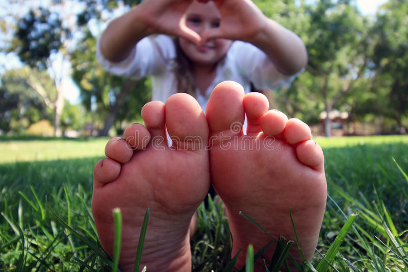 Little toes up close royalty free stock image