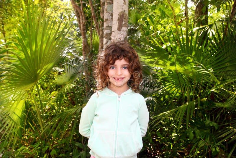 Download Little Tourist Girl Posing In Mayan Riviera Jungle Stock Photo - Image: 20118194