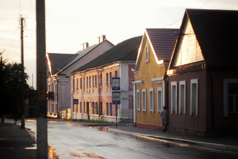 Little town stock photography