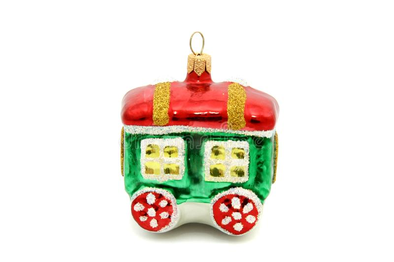 Little train christmas tree toy royalty free stock images