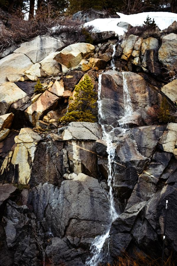 Waterfalls Rocks with Many Colors royalty free stock photos