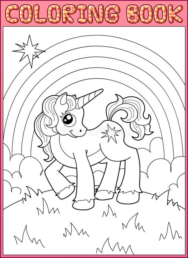 little unicorn vektor illustrationer