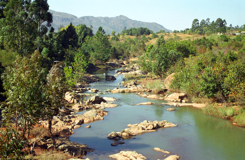 Little Usutu River, Swaziland. Little Usutu River in Swaziland royalty free stock photo