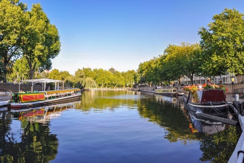 Little Venice canal on London. United Kingdom stock photo