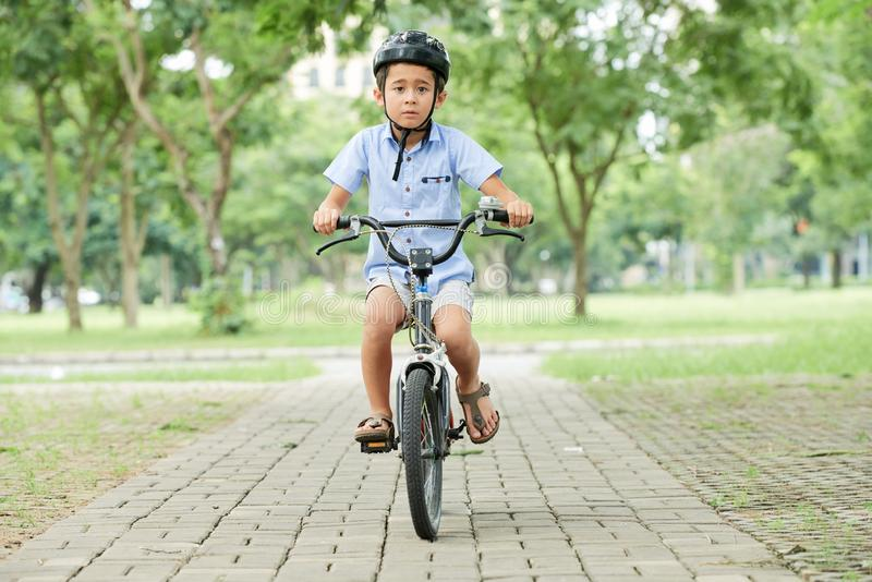 Cycling boy royalty free stock photography