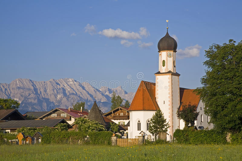 Download Little village stock photo. Image of tower, bavaria, area - 13401276