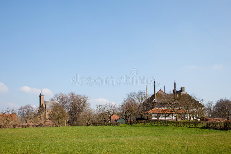 Download Little Village In Dutch Landscape Stock Photo - Image: 8852464