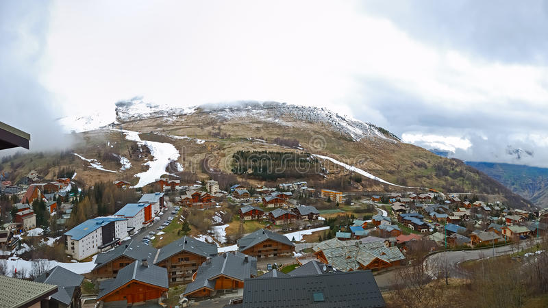 Download Little Village In The Mountain Alps Stock Photo - Image: 24497792