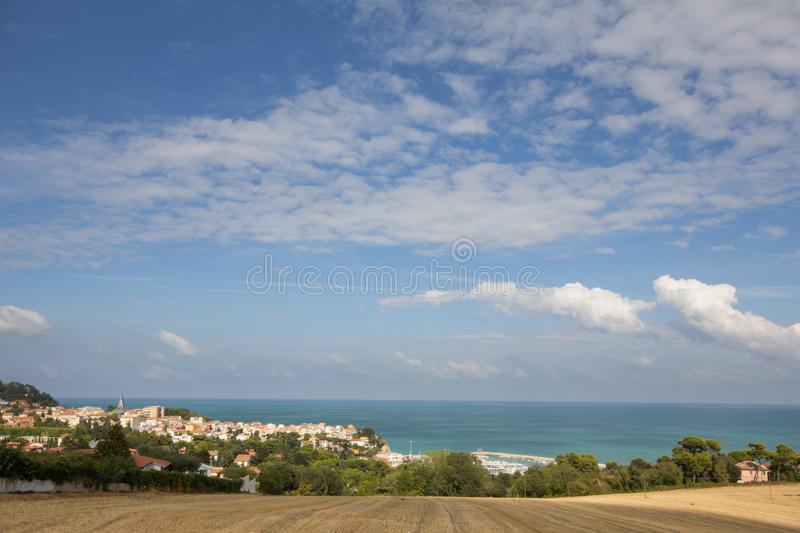 Download Little village in the sea stock image. Image of seascape - 27050483