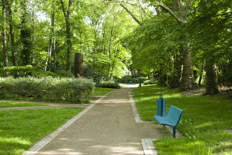 A little walk in the park royalty free stock photography
