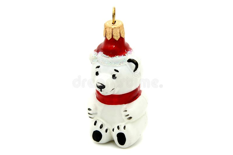 Little bear christmas tree toy royalty free stock images