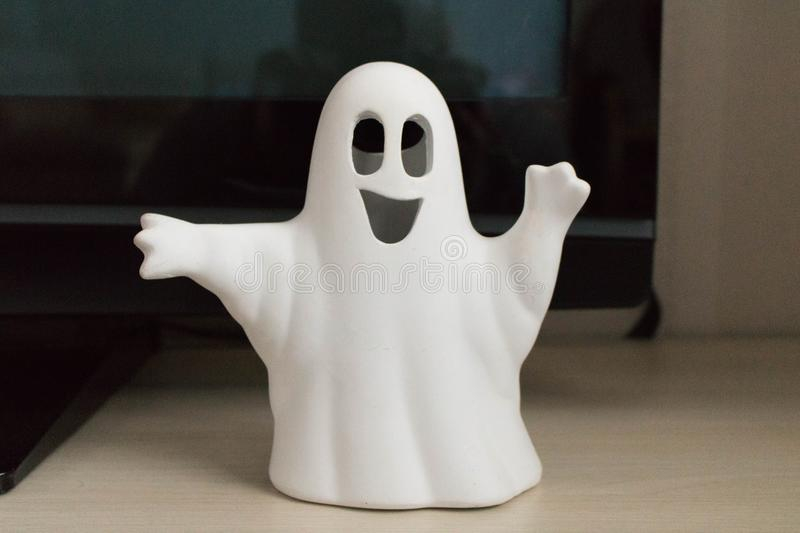 Little white Ghost. Decorative Beautiful stock image