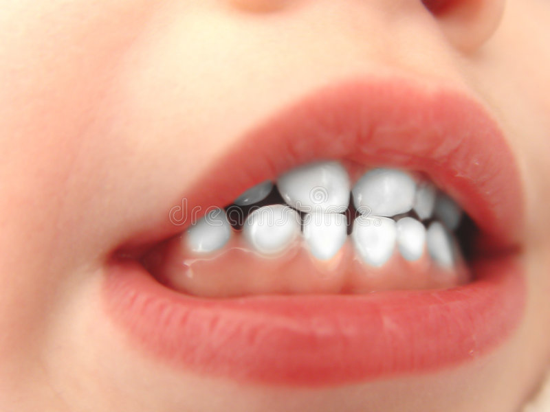 Little White Teeth royalty free stock images