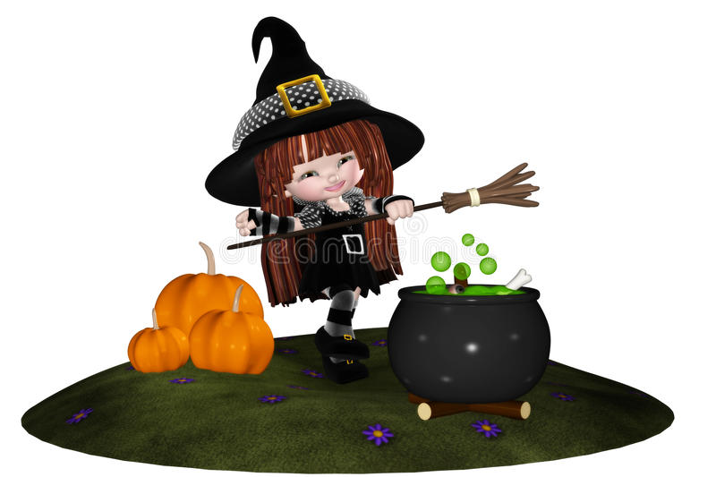 Download Little Witch stock illustration. Illustration of trick - 18650359