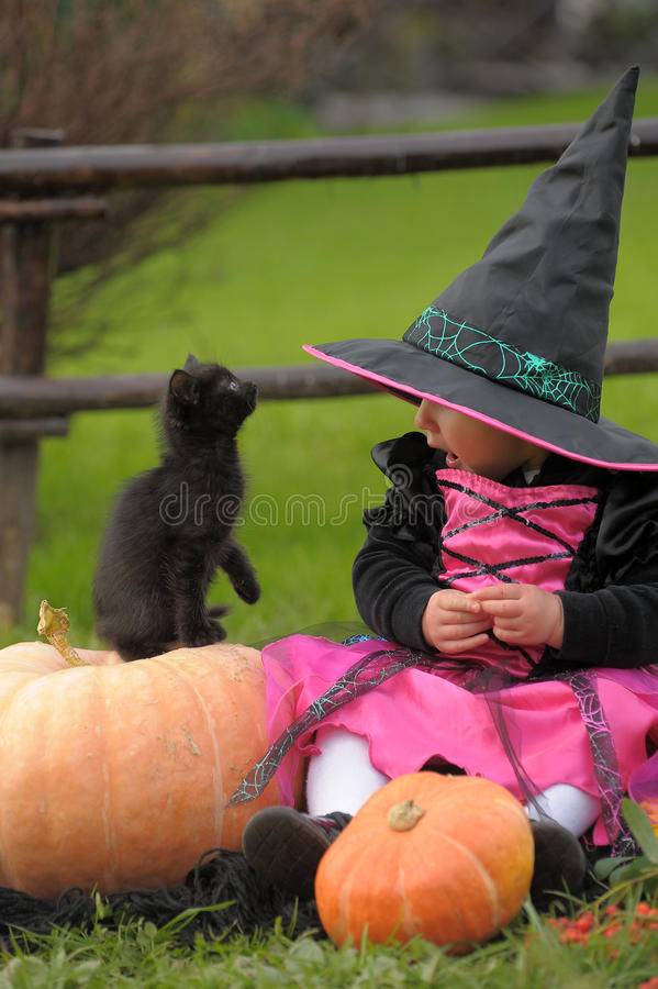 Download Little Witch Stock Photo - Image: 21415570