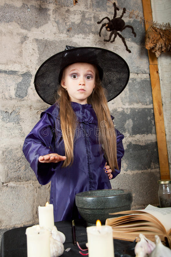 Download Little witch stock photo. Image of fear, sortilege, children - 26464222