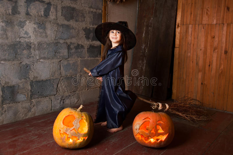 Download Little witch stock image. Image of childhood, horror - 26464305