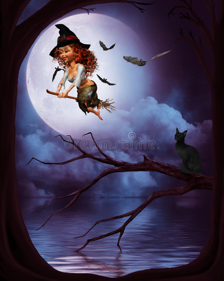 Download Little witch 3 stock illustration. Image of afraid, mystical - 18672260