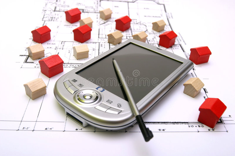 Download Little Wood Houses On A Plan Stock Image - Image: 2502461