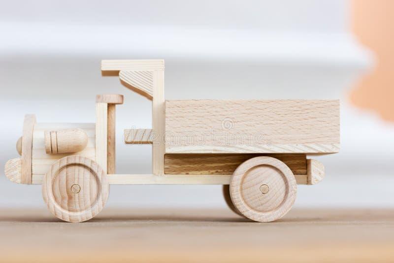Little wooden car model. A little wooden car model royalty free stock photography