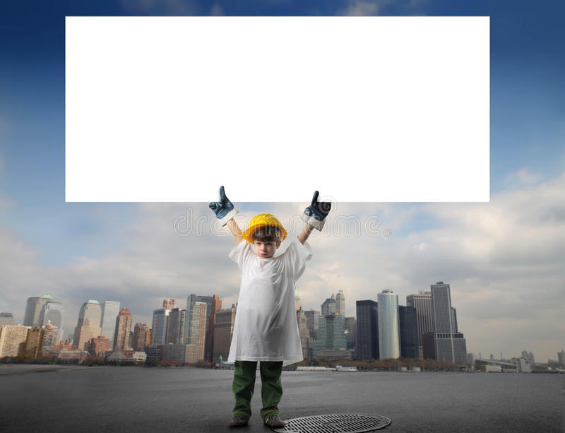 Little worker royalty free stock image