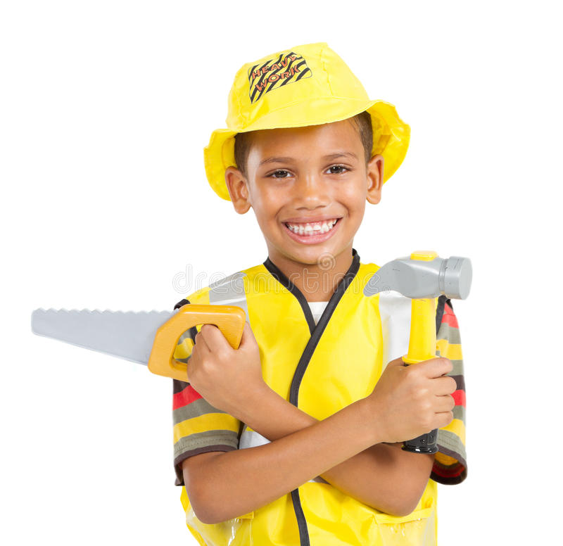Download Little worker stock image. Image of isolated, belt, construction - 18783719