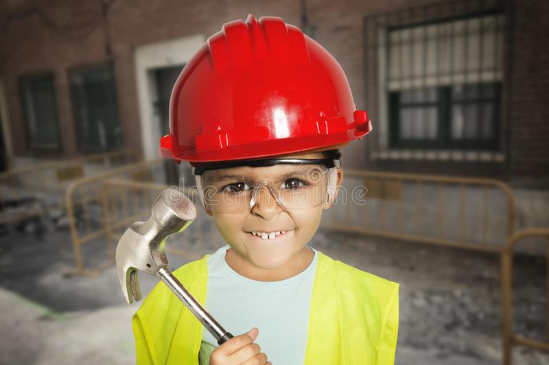 Little worker girl royalty free stock photography