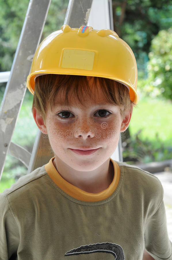 Little workman royalty free stock photography