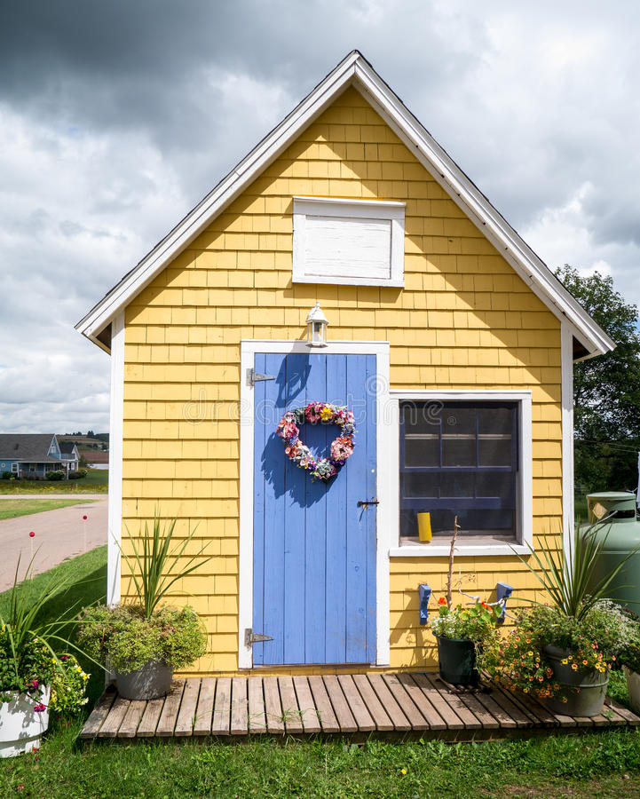 Download Little Yellow House stock image. Image of classic, island - 26541149