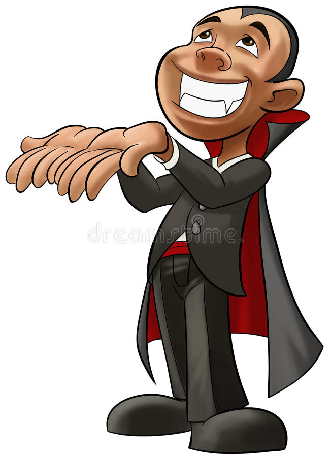 Download Little young vampire stock illustration. Illustration of character - 16478723