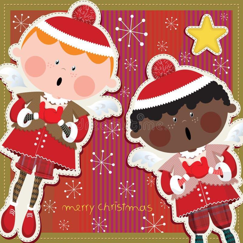 Littleangelscard ilustração stock