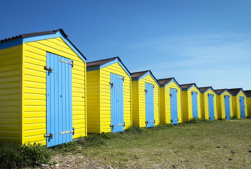 Littlehampton plaży budy obraz stock