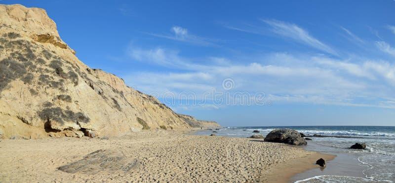 Littoral chez Crystal Cove State Park, la Californie du sud images libres de droits