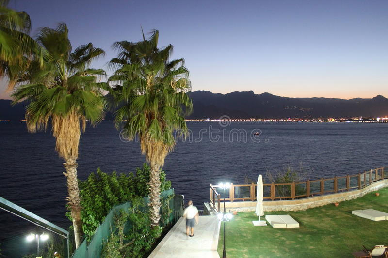 Littoral d'Antalya images stock