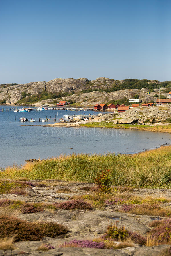 Littoral d'archipel de Styrsö près de Gothenburg photo libre de droits