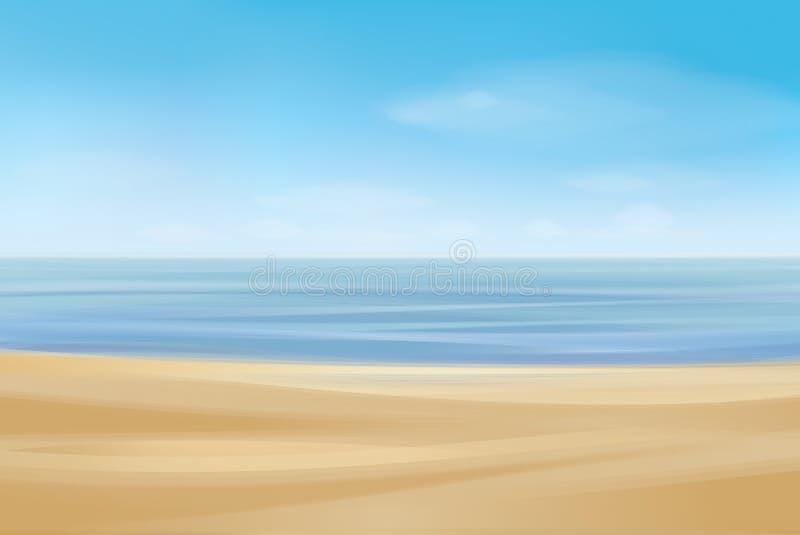 Littoral d'océan de vecteur, fond illustration de vecteur