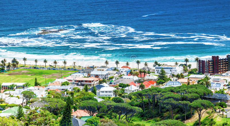 Littoral de Cape Town photo stock