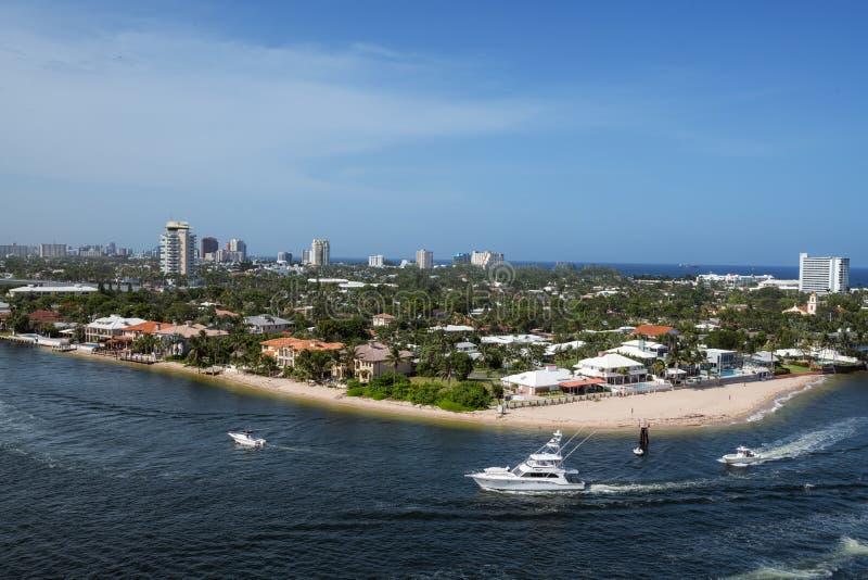 Littoral de Fort Lauderdale images stock