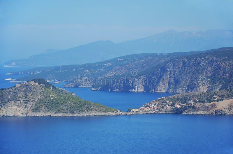 Littoral de Kefalonia, Grèce photographie stock libre de droits